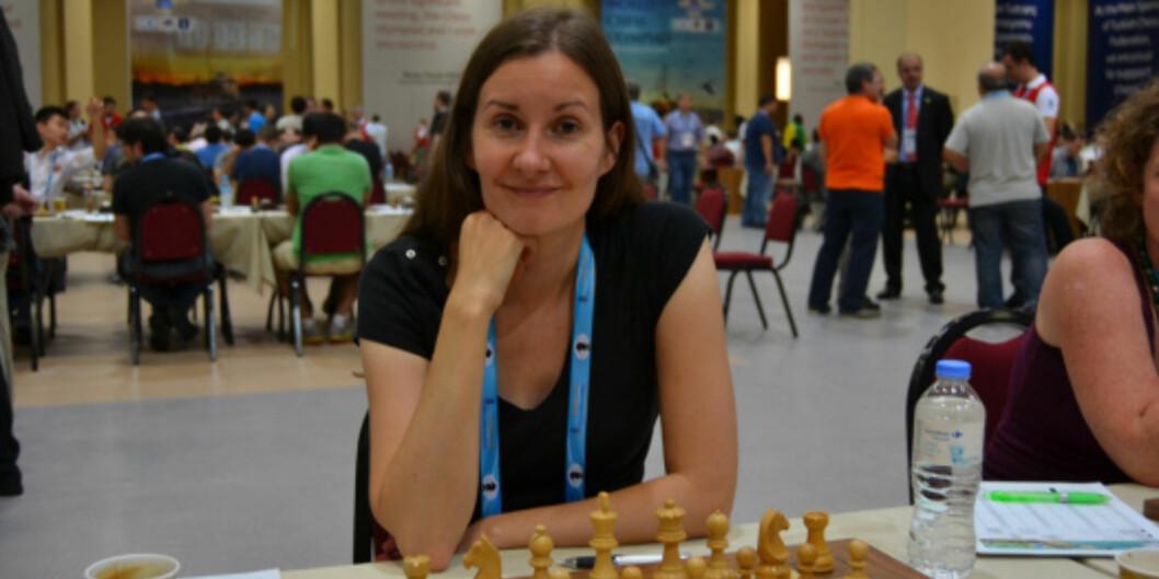 "Ellen Hagesæther deltar i sin åttende olympiade under sjakk-<span class=""caps"">OL</span> i Tromsø. <span class=""caps"">FOTO</span>:teamtromso.wordpress.com"