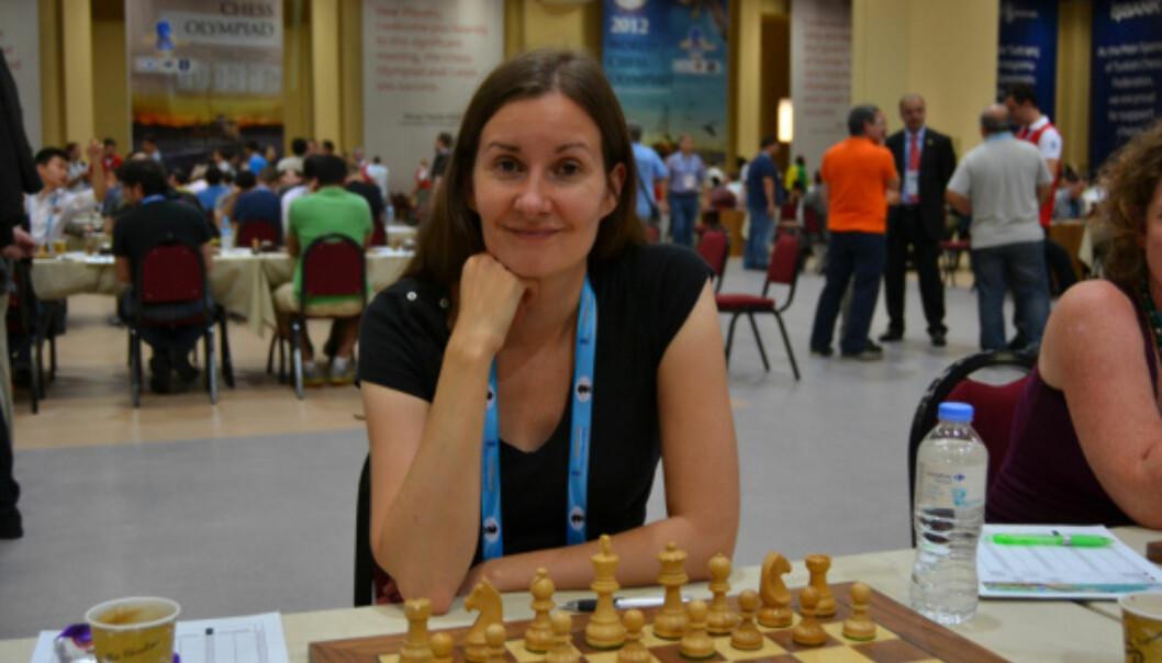 Ellen Hagesæther deltar i sin åttende olympiade under sjakk-OL i Tromsø. FOTO:teamtromso.wordpress.com