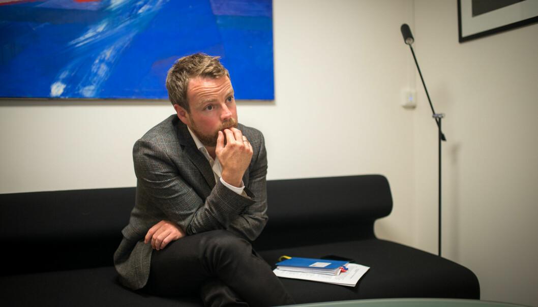 HiOA ber statsråd Torbjørn Isaksen (bildet) om en egen arbeidsgruppe som skal foreta arbeidsdelingenmellom Foto: Skjalg Bøhmer Vold