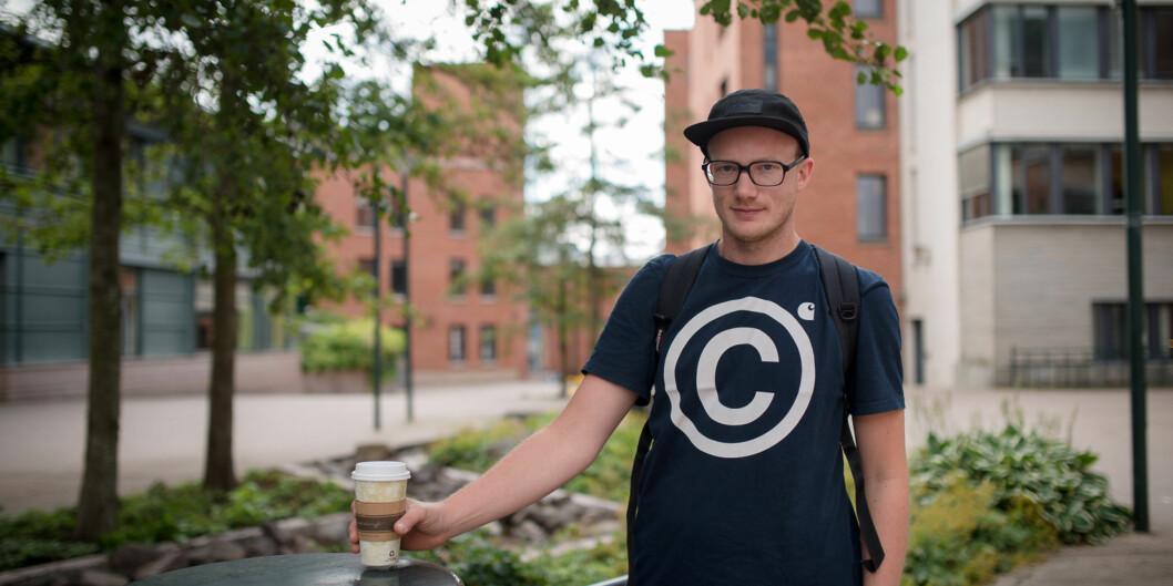 Carl Alexander Kessen Sverdrup studerer sykepleie på HiOA og har hatt relevant sommerjobb. Foto: Skjalg Bøhmer Vold