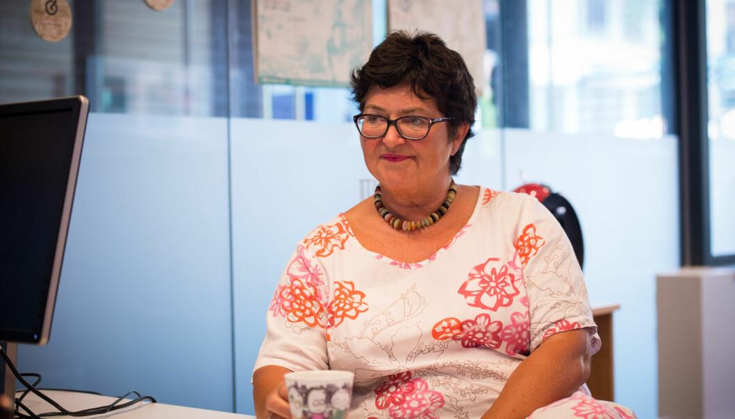 Instituttleder på yrkesfaglærerutdanningen Sidsel Øiestad Grande, har fått fire nye år isjefsstolen. Foto: Skjalg Bøhmer Vold