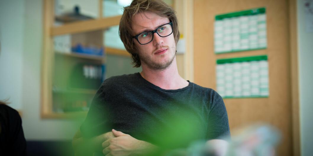 Studentleder Tord Øverland vil ha økt fokus på høyere kvalitet på eksisterende tilbud framfor nyefusjoner. Foto: Skjalg Bøhmer Vold