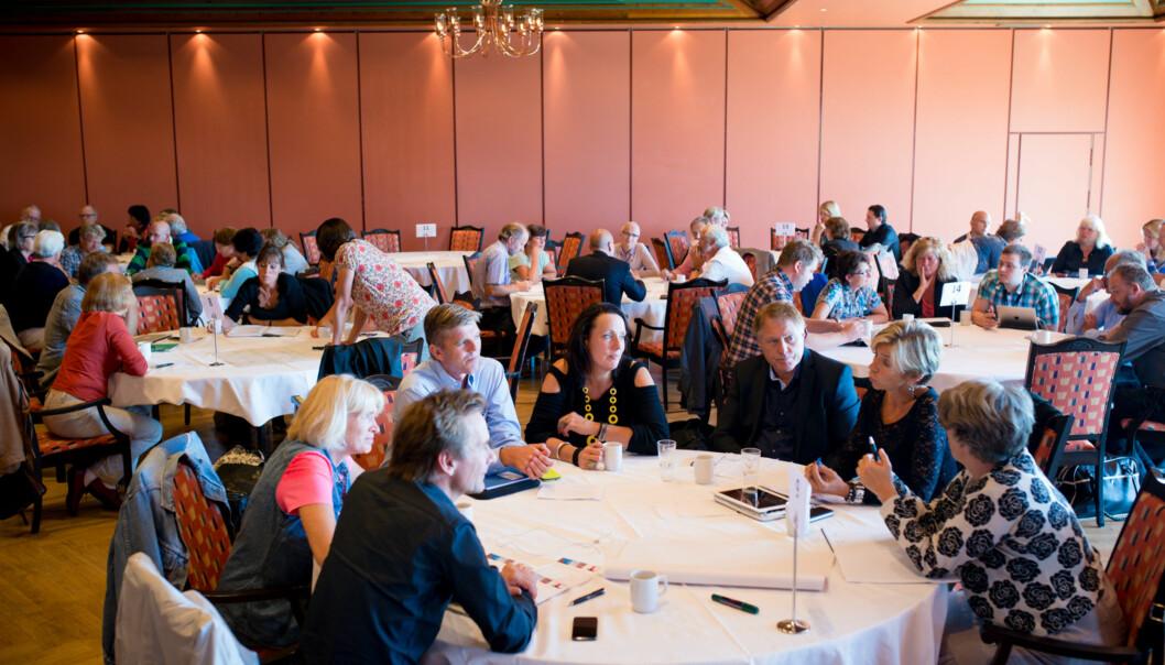 Akademisk ledelse ble diskutert på en konferanse i København nylig. Bildet er fra HiOAs lederutviklingsseminar i august2013. Foto: Skjalg Bøhmer Vold