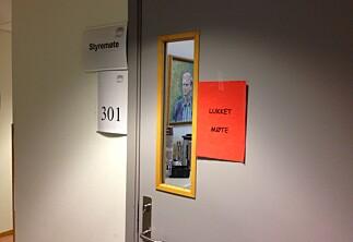 Alle styreseminarer bak lukkede dører