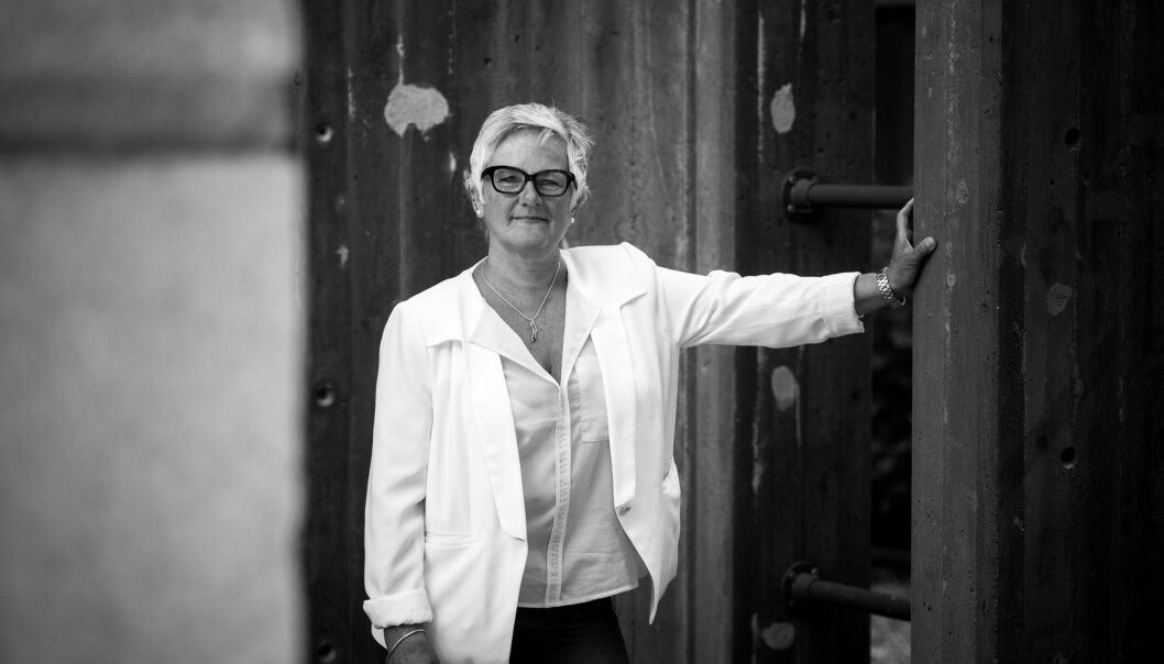 Olgunn Ransedokken er ikke bare prorektor ved Høgskolen i Oslo og Akershus, hun er ogsåbarnebokforfatter. Foto: Skjalg Bøhmer Vold