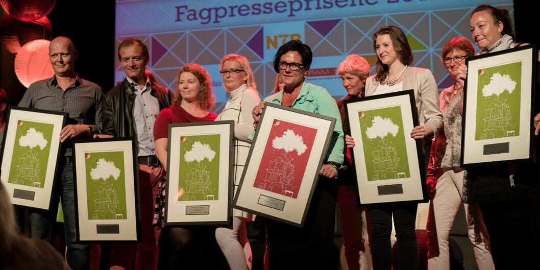 Årets vinnere avfagpresseprisene. Foto: Skjalg Bøhmer Vold