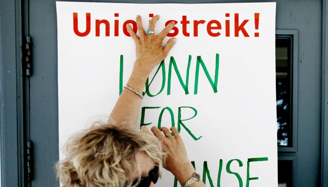 Varsel om streik ved ni universiteter og høgskoler ble sendt ut 16.mai. Her er bildet fra en tidligere Unio-streik. Foto: Carl Martin Nordby/NTB scanpix
