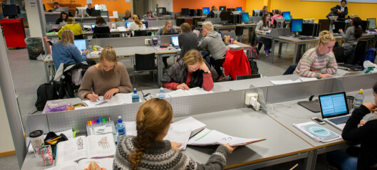 40 studenter per lesesalsplass