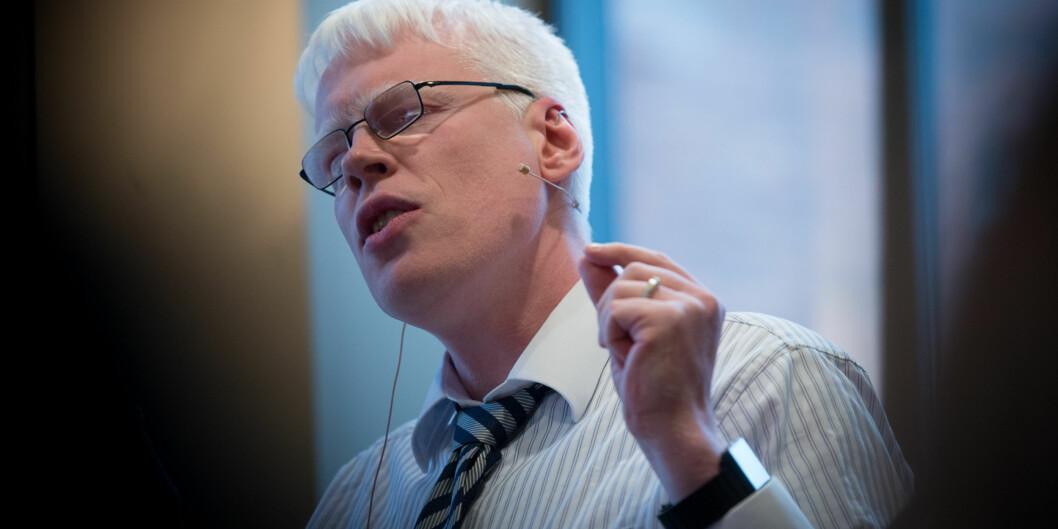 Khrono og professor Frode Eika Sandnes får kritikk for å ha vært med på å tilrettelegge lister på individnivå ut fra registreringer i systemet for registrering av publisert forskning,Cristin. Foto: Skjalg Bøhmer Vold