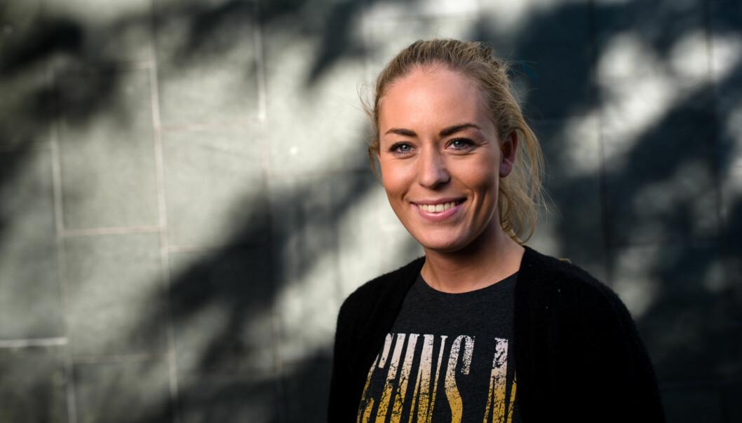 Therese Eia Lerøen, fra HiOA og det nåværende arbeidsutvalget i Norsk studentorganisasjon blir utfordret på ledervervet i organisasjonen fraBergen. Foto: Skjalg Bøhmer Vold