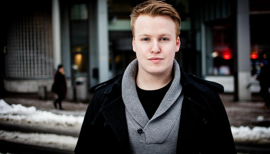 Christoffer Alsvik er bekymret for flytteplanene for Institutt forsosialfag. Foto: Patrick da Silva Sæther