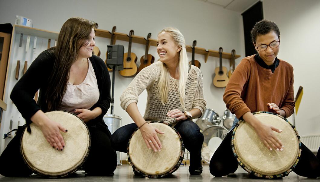 Sang i skolen skaper stort engasjement. Illustrasjonsfoto:HiOA Foto: Benjamin A. Ward / HiOA