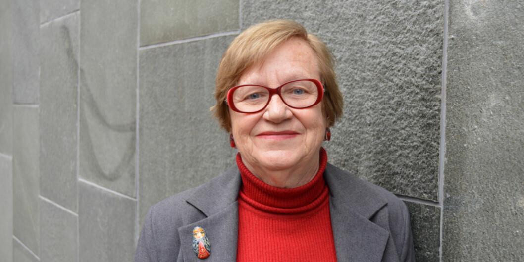 Hovedtillitsvalgt i Forskerforbundet, Vera Berg, er fornøyd med at de slapp å ta saken om midlertidighet og retten til fast jobb tilrettssystemet. Foto: Eva Tønnessen