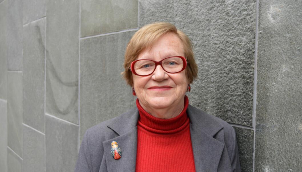 Hovedtillitsvalgt Vera Berg og Forskerforbundet ønsker fleksibilitet i permisjonsordningene påhøgskolen. Foto: Eva Tønnessen