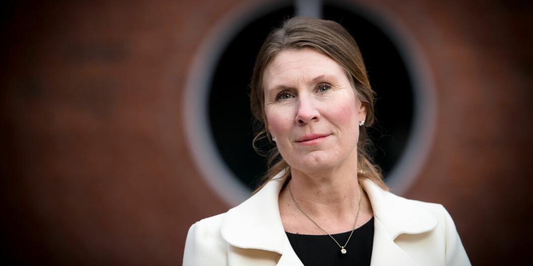 Marianne Brattland leder arbeidet med digital samling og forbedring på Høgskolen i Oslo ogAkershus. Foto: Skjalg Bøhmer Vold