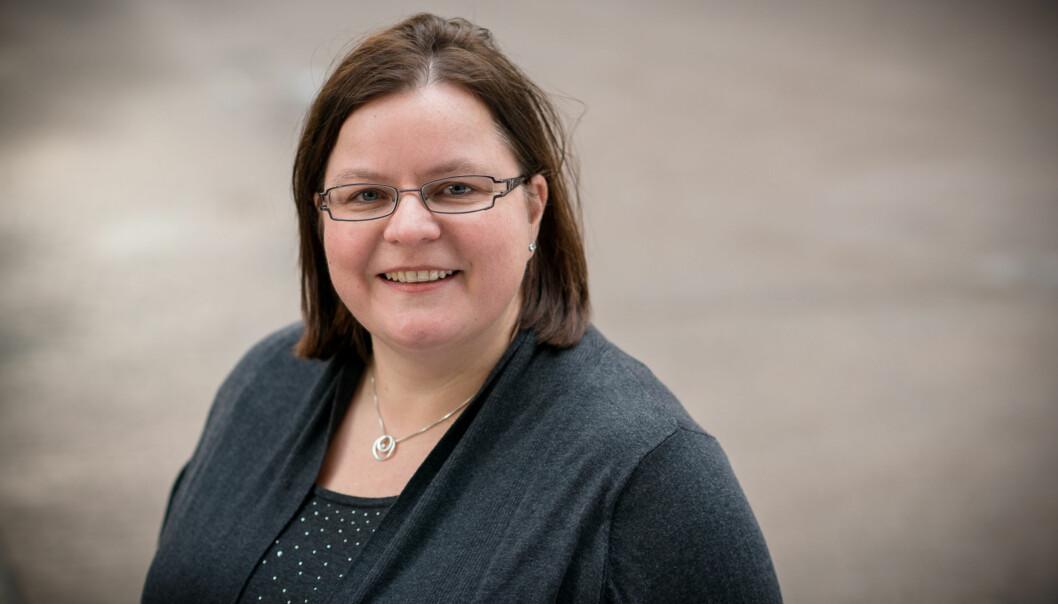 Studieleder Vibeke Bjarnø er fornøyd med stadig bedre matteresultater for hennes studenter på første år av utdanningen forgrunnskolelærere. Foto: Skjalg Bøhmer Vold