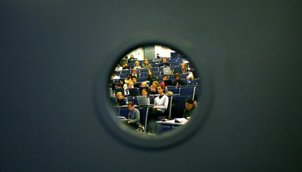 Illustrasjonsfoto fra en forelesning på Høgskolen i Oslo ogAkershus. Foto: Sara Johannessen/HiOA