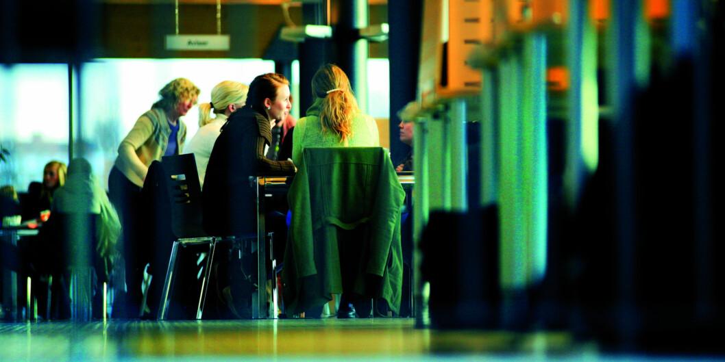 Studenter på bachelorstudiet i vernepleie på Høgskolen i Oslo og Akershus (HiOA) holder til både på Kjeller (bildet) og iSandvika. Foto: Dag Spant/HiOA