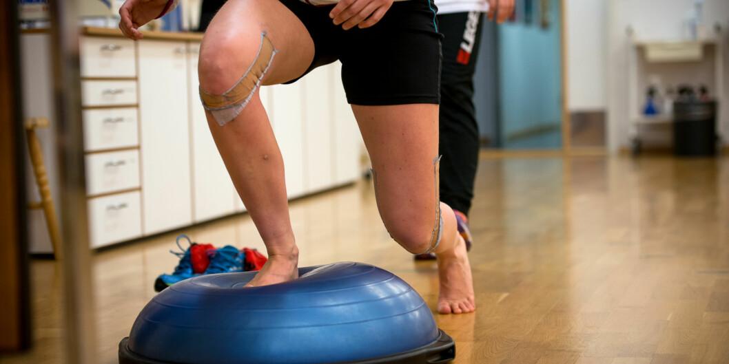 Fysioterapistudentene får praksis og veiledning på instituttets egen klinikk, i tillegg til praksisperioder ute ifeltet. Foto: Skjalg Bøhmer Vold