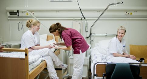 Høy stryk blant studenter på sykepleie