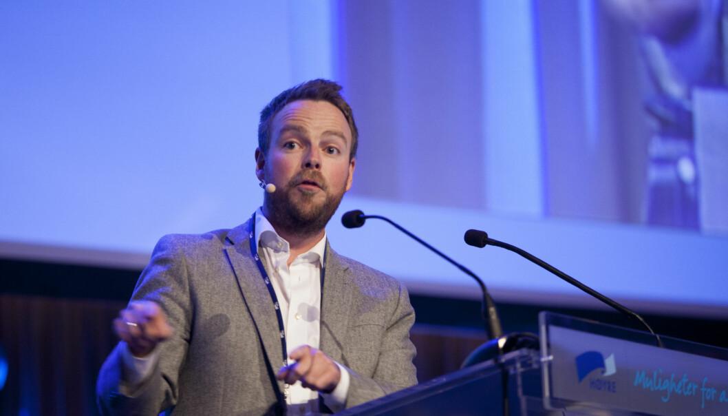 Den nye kunnskapsministeren, Torbjørn Røe Isaksen, blir invitert til HiOA og ledersamling 12.november. Foto: Erik Norrud/Høyre