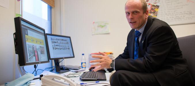 Dag Hellesund, redaktør i På Høyden. Foto: Skjalg Bøhmer Vold