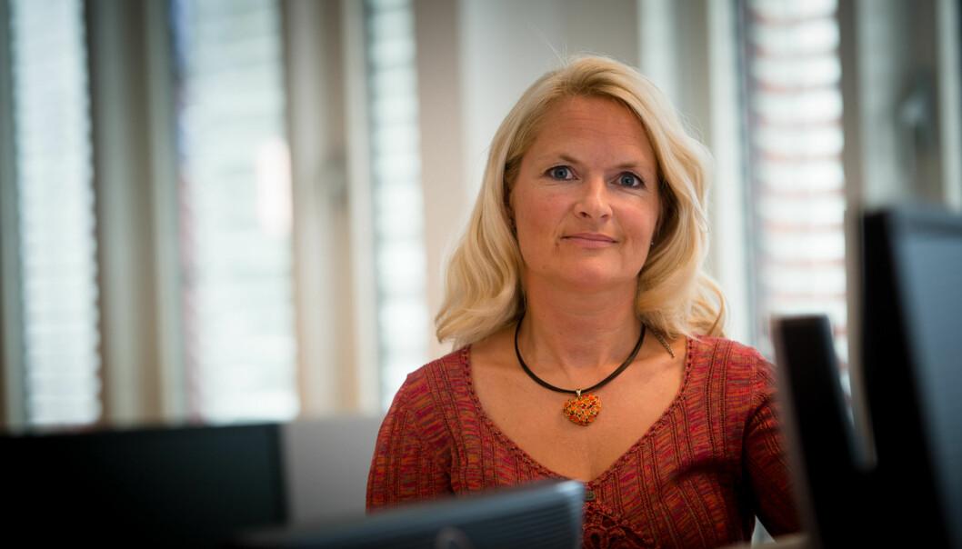 — Debatten om pr-konsulenter og pr-bransjen startet for 30 år siden og jeg registrerer at den nå har nådd universitets- og høgskolesektoren også, sier kommunikasjonsdirektør Anne Christel Johnsgaard vedHiOA. Foto: Skjalg Bøhmer Vold