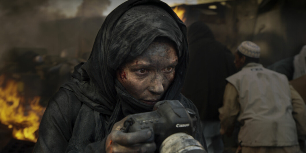 Juliette Binoche i rollen som krigsfotografen Rebecca i Erik Poppes film Tusen ganger godnatt. Foto: John Christian Rosenlund/Paradox