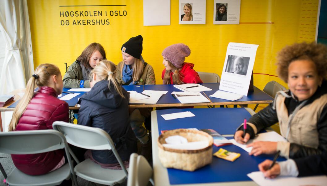 Forskningstorget på Universitetsplassen i2013. Foto: Skjalg Bøhmer Vold