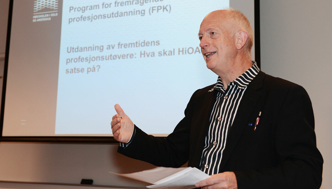 Professor Anton Havnes ledet fremragende seminar sistfredag. Foto: Sonja Balci/HiOA