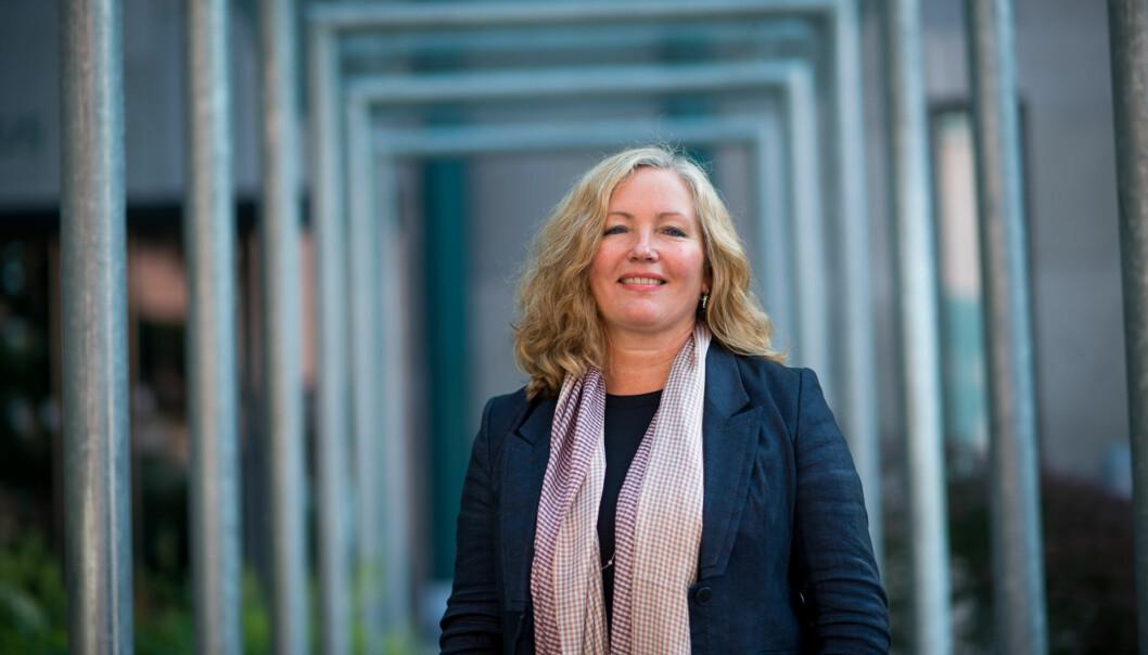 Høgskoledirektør Ann Elisabeth Wedø orienterte om varslersaken for fakultetsstyremøtet på Fakultet for samfunnsfag (SAM). Foto: Skjalg Bøhmer Vold