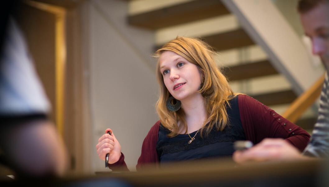 Leder av Studentparlamentet, Eline Stølan, er overrasket over at flytteplanene på Kjeller ikke er tatt opp medstudentene. Foto: Skjalg Bøhmer Vold