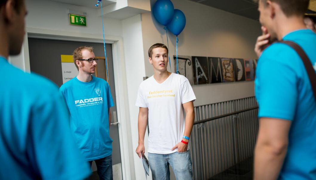 PR-ansvarlig for ingeniørstudentene, Kristian Blomseth, tilbakeviser kritikken om at fadderuka kun består avfyll. Foto: Skjalg Bøhmer Vold
