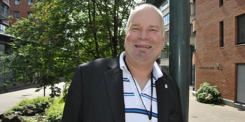 Erik Dahlgren er hovedtillitsvalgt for Forskerforbundet på OsloMet. Han forsvarer seg mot kritikk av fagforeningens holdning under lønnsoppgjør for stipendiater. Foto: Maria Ingolfsdatter Randahl