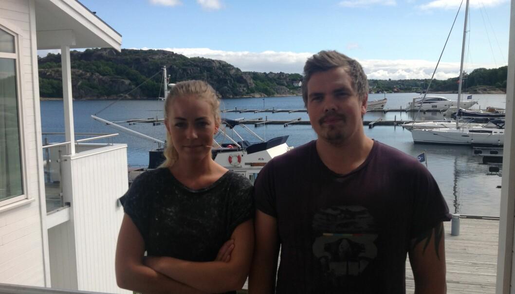 Avtroppende Therese Eia Lerøen og Eirik Strøm Solberg, her på Tjøme tidligere i sommer, på overlappingstur med det påtroppendeStudentparlamentet. Foto: SP