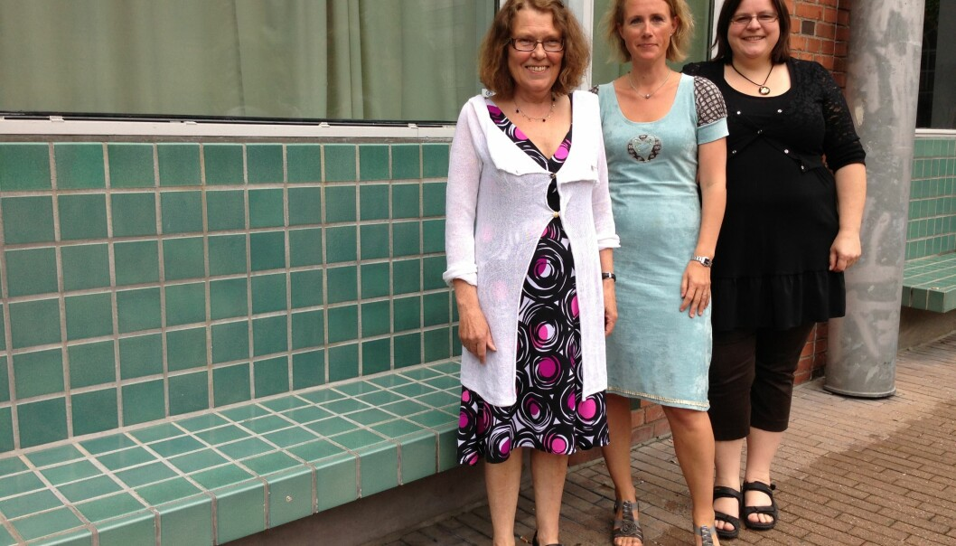 De er glade for at strykprosenten på matematikk har gått ned, men ønsker tallet enda lengre ned, (fra venstre) Gerd Ånestad er en av fire matematikklærere på grunnskolelærerutdanningen, Camilla Rodal, fagansvarlig og matematikklærer på instituttet og Vibeke Bjarnø,studieleder. Foto: Eva Tønnessen