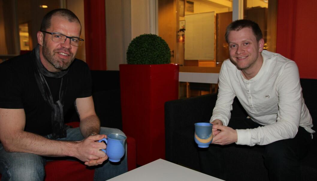 Kroppsøvingsfaget må kraftig forbedres er Stig Inge Bjørnebye og vår masterstudent Øystein Winje skjønt enigeom. Foto: Rebekka Nøkling