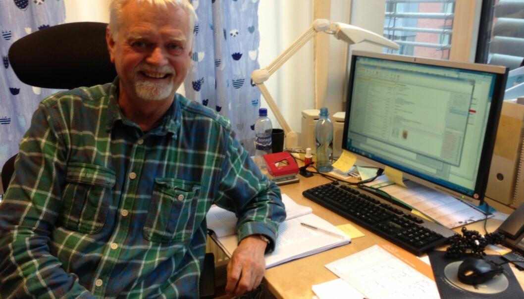 Snittet er 0,38 poeng per vitenskapelig ansatt. Journalistikkprofessor Rune Ottosen publiserte 6,7 poeng alene i2012. Foto: Eva Tønnessen
