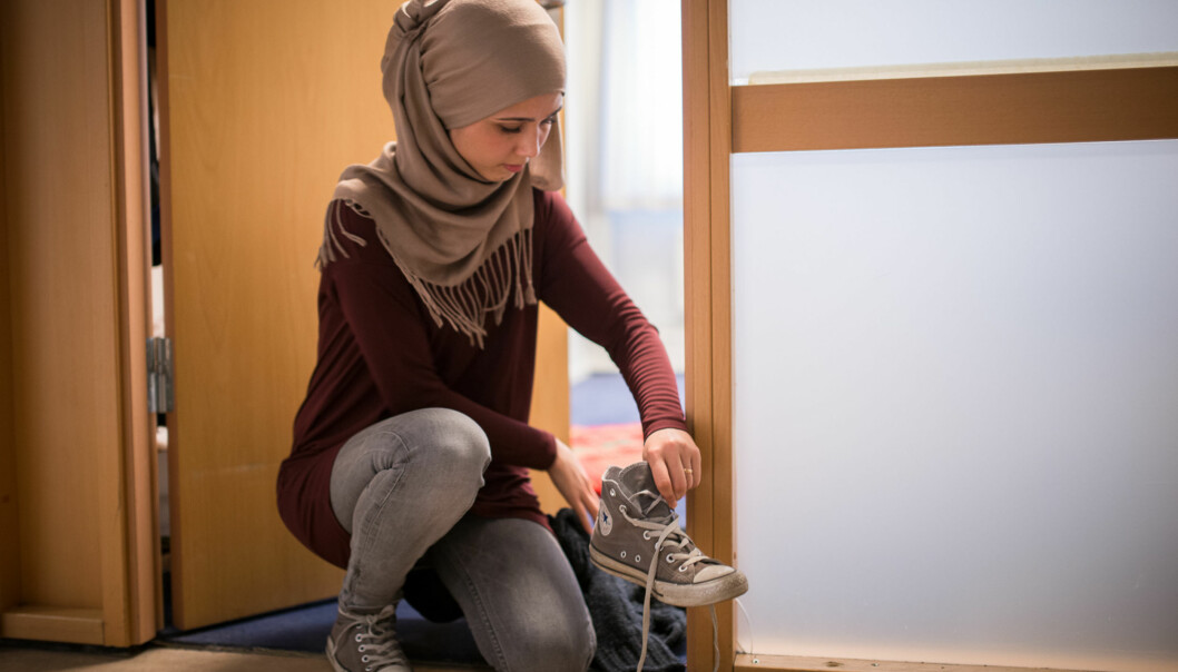 Nasire Bani Hashem oppfordrer ledelsen ved høgskolen til å ta kontakt med Islam Net og få til en god dialog før de avgjør søknaden om å blistudentforening. Foto: Skjalg Bøhmer Vold