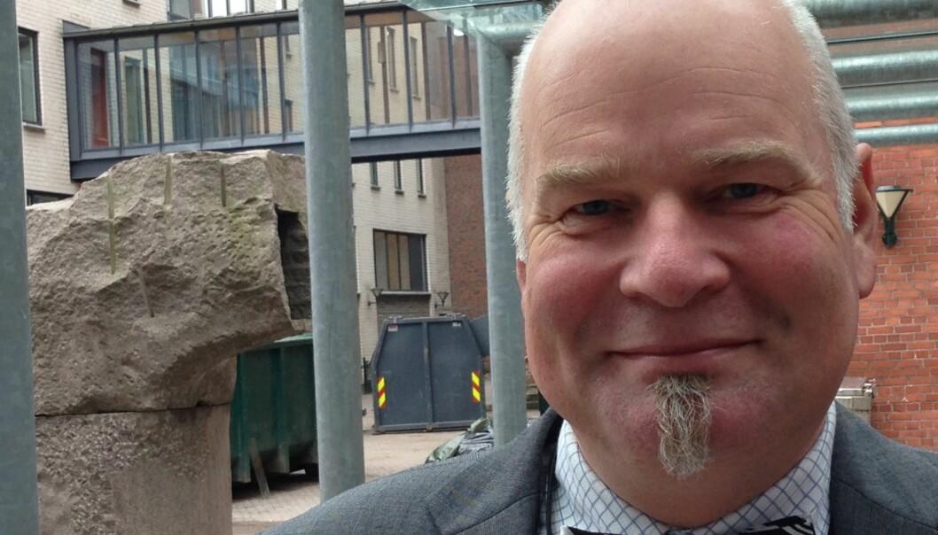 Hovedvernombud Erik Dahlgren ved HiOA frykter «en gal manns verk» og mener det er på høy tid med enberedskapsplan. Foto: Eva Tønnessen