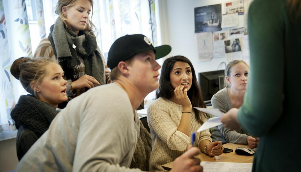 Bare 1,5 prosent av studentene på bachelorstudiet i journalistikk ved HiOA strøk ifjor. Foto: Benjamin A. Ward/HiOA