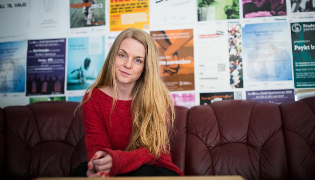 Leder av Studentparlamentet ved HiOA, Tuva Aune Wettland, mener at den store økningen i studentmassen kan forklare høytfrafall. Foto: Skjalg Bøhmer Vold