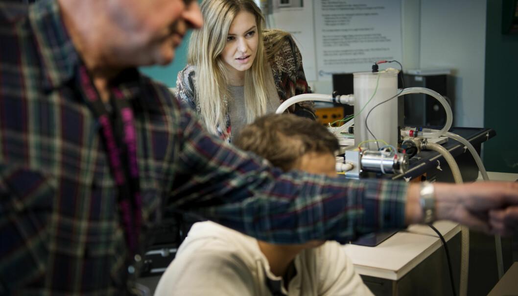 Elever som velger seg et ingeniørerstudium går mot trygge jobbutsikter viser tall fraNav. Foto: HiOA