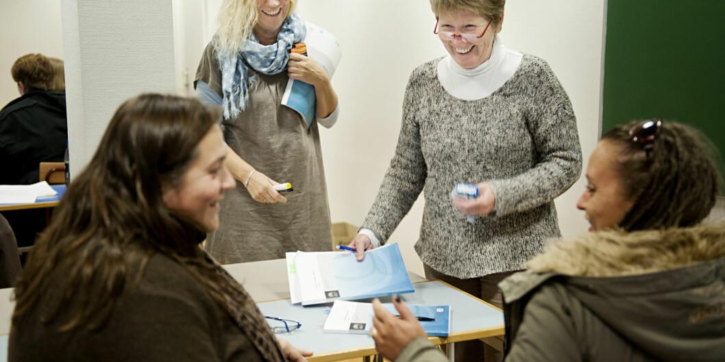 Nesten 70 prosent av de ansatte ved Høgskolen i Oslo og Akershus er kvinner. To av tre professorer er menn. Foto: Benjamin A. Ward/HiOA