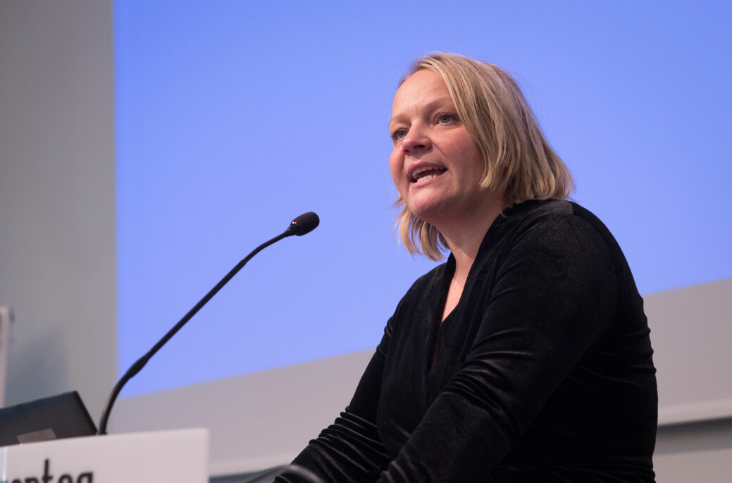 Mona Fagerås, stortingsrepresentant for SV, mener det må 4.000 studentboliger til i året for å nå en dekningsgrad på 20 prosent, slik Norsk studentorganisasjon ber om. Foto: Petter Berntsen