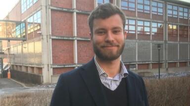 Student og styrerepresentant Sverre Daniel Gaupås. Foto: Tove Lie