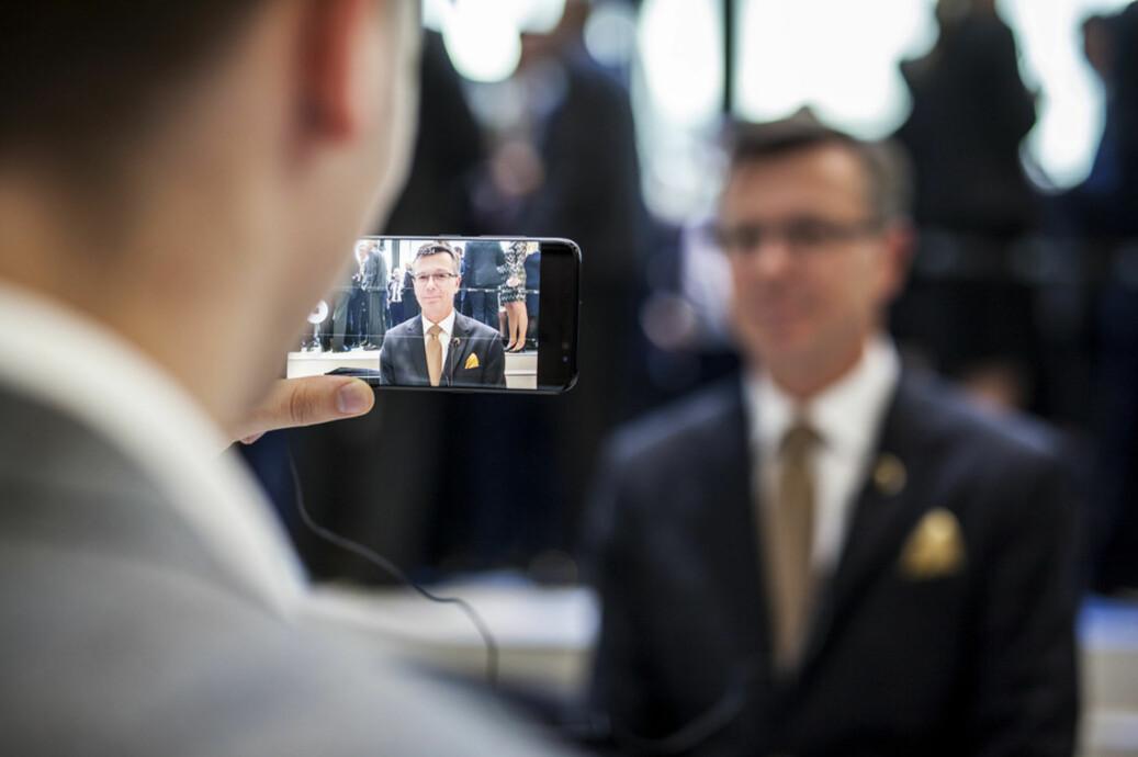 Rektor Dag Rune Olsen under åpningen av Media City Bergen. Foto: Ingvild Festervoll Melien