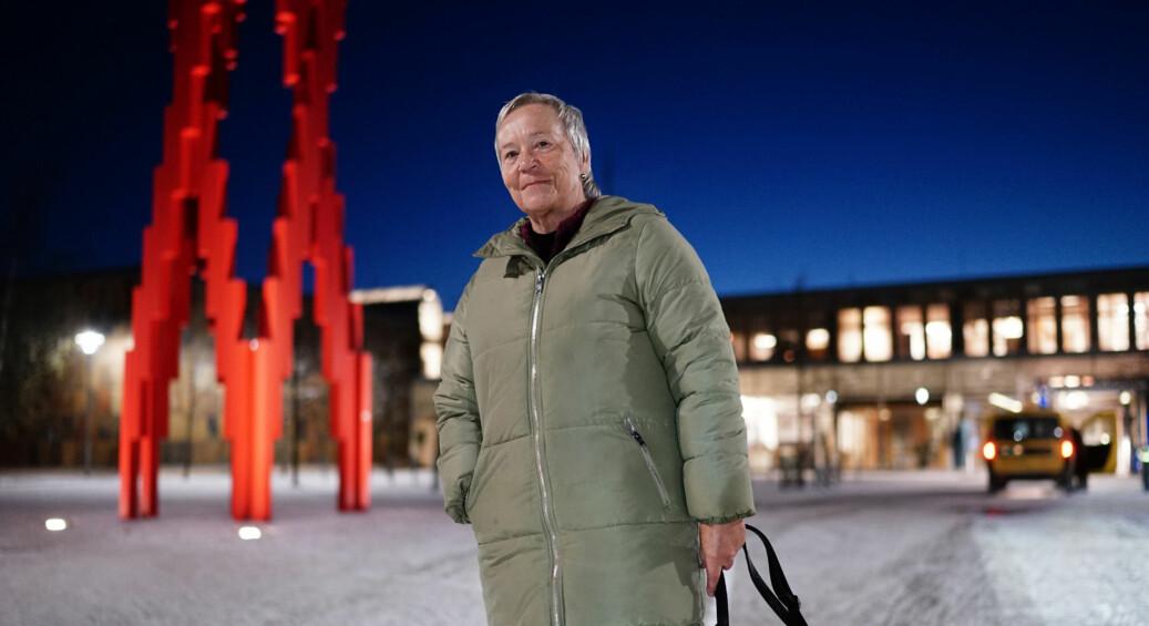 Rektor Kathrine Skretting ved Høgskolen i Innlandet sier at gaven fra Sparebankstiftelsen Hedmark er avgjørende for å nå målet om å bli universitet innen 2020. Foto: Ketil Blom Haugstulen