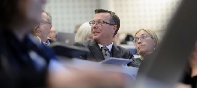 UiB-rektor Dag Rune Olsen skal ikke gå i tog. Foto: Ketil Blom Haugstulen
