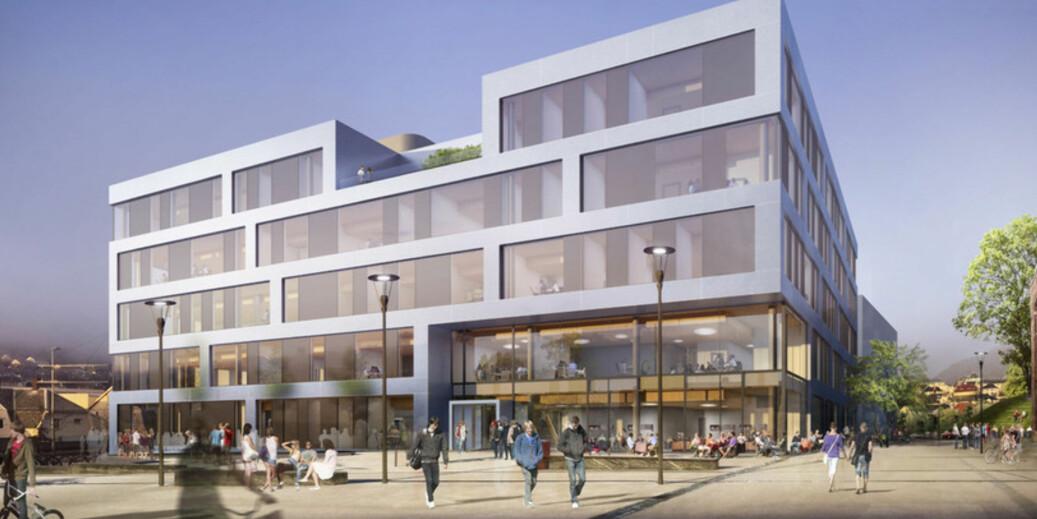 Torstein Dahle er kritisk til at nybygget på Kronstad legger opp til åpne kontorlandskap. Foto: Kruse Smith og L2 Arkitekter